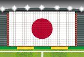 stadium transform cheering into Japan flag