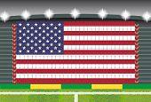 stadium transform cheering into USA flag