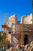 Javea Denia Mediterranean tower masonry improvement construction in Spain