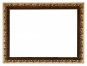 Wide Golden Gilted Vintage Wooden Picture Frame