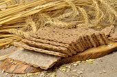 picture of hardtack  - Cereal crackers and seed on the kitchen - JPG
