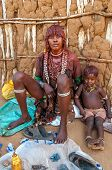 Hamar Woman With Child