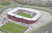 Alkmaar, Netherlands - April 15: Exterior View Of The Az Afas Stadion From Above On April 15, 2014 I