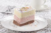 Three Layer Cake With Coloured Sprinkle