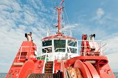 foto of polonia  - red tugboat on a Baltic Sea in Gdansk Poland - JPG