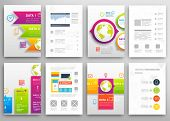 foto of geometric shapes  - Set of Flyer - JPG