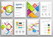 Set of Flyer, Brochure Design Templates. Geometric Triangular Abstract Modern Backgrounds. Mobile Te