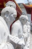 72 followers statues of Confucian Temple in Nagasaki, Japan