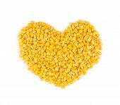 Heart made of corn.