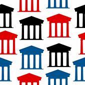 Bank Icon Seamless Pattern