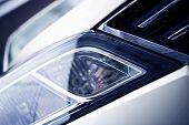 image of headlight  - Modern Car Headlight Closeup - JPG