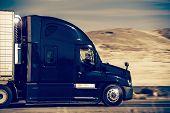 Speeding Semi Truck