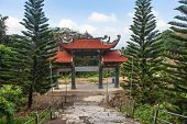 Main Entrance Gate To The Pagoda. Vietnam.