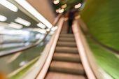 Blurred Moving Escalator