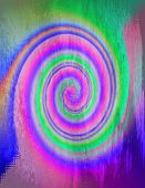pic of trippy  - A two dimensional abstract spiral background design - JPG