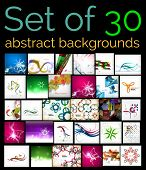 Large mega set of abstract backgrounds, sale. Abstract waves, geometric shapes, Christmas and other