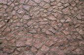 Red Granite Stonework Background