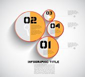 Simply infographic template, vector