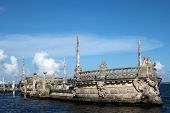 Stone Breakwater Barge At The Vizcaya Museum