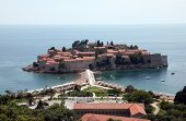 SVETI STEFAN, MONTENEGRO - JUNE 09, 2012: Saint Stephen resort island, Montenegro, on June 09, 2012
