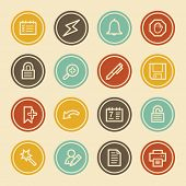 Scheduler Web Icons, Color Circle Buttons