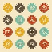 Medicine Web Icon set 1, Color Circle Buttons
