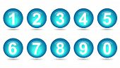 Collection Of Numbers - Aqua Spheres.