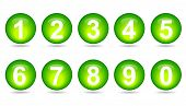 Collection Of Numbers - Green Spheres.