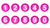 Collection Of Numbers - Pink Spheres.