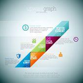 Upward Graph Infographic