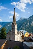 View Of Hallstatt Christuskirche Church Bell Tower
