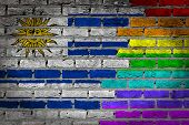 Dark Brick Wall - Lgbt Rights - Uruguay