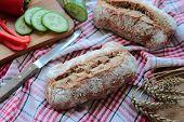 Crunchy bread rolls