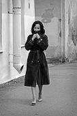 Young Woman In Coat