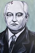 Graffiti Portrait Of Mikhail Gorbachev