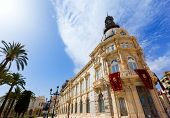 Ayuntamiento de Cartagena city hall at Murcia Spain