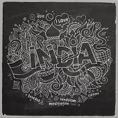 India chalk board background