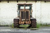 Htz T-74 Old Rusty Tractor