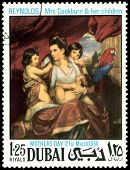 Vintage  Postage Stamp. Reynolds. Mrs Cookburn & Her Children.