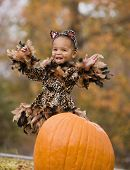 African girl in Halloween costume