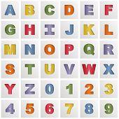 Square Alphabet Icons