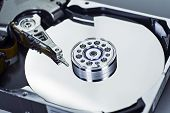 Detail of a hard disk