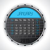 2015 January Calendar With Lcd Display