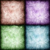 set of four different colored textures.