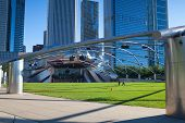 Jay Pritzker Pavilion In Millennium Park On July 12, 2013 In Chicago. Outdo