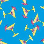 Martini seamless vector pattern