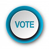 vote blue modern web icon on white background