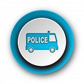 police blue modern web icon on white background
