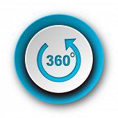 panorama blue modern web icon on white background