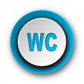 toilet blue modern web icon on white background